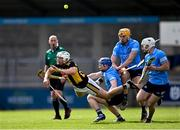 8 May 2021; Padraig Walsh of Kilkenny is fouled by Conor Burke of Dublin, second from left, during the Allianz Hurling League Division 1 Group B Round 1 match between Dublin and Kilkenny at Parnell Park in Dublin. Photo by Piaras Ó Mídheach/Sportsfile