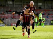 8 May 2021; Ali Coote of Bohemians, bottom, celebrates with team-mate Georgie Kelly after scoring their side's second goal during the SSE Airtricity League Premier Division match between Bohemians and Finn Harps at Dalymount Park in Dublin. Photo by Seb Daly/Sportsfile