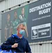 8 May 2021; Leinster head coach Leo Cullen arrives before the Guinness PRO14 Rainbow Cup match between Connacht and Leinster at The Sportsground in Galway. Photo by Brendan Moran/Sportsfile