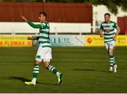 8 May 2021; Graham Burke of Shamrock Rovers celebrates after scoring his side's first goal during the SSE Airtricity League Premier Division match between St Patrick's Athletic and Shamrock Rovers at Richmond Park in Dublin. Photo by Eóin Noonan/Sportsfile
