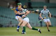 8 May 2021; Séamus Flanagan of Limerick in action against Brian McGrath of Tipperary during the Allianz Hurling League Division 1 Group A Round 1 match between Limerick and Tipperary at LIT Gaelic Grounds in Limerick. Photo by Stephen McCarthy/Sportsfile