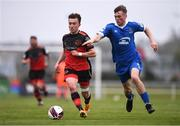 8 May 2021; Darragh Markey of Drogheda United in action against Callum Stringer of Waterford during the SSE Airtricity League Premier Division match between Waterford and Drogheda United at RSC in Waterford. Photo by Ben McShane/Sportsfile
