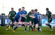 8 May 2021; Conor Fitzgerald of Connacht is tackled by James Tracy of Leinster during the Guinness PRO14 Rainbow Cup match between Connacht and Leinster at The Sportsground in Galway.  Photo by David Fitzgerald/Sportsfile