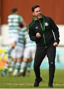 8 May 2021; Shamrock Rovers manager Stephen Bradley celebrates after Danny Mandroiu of Shamrock Rovers scores a late goal for his side during the SSE Airtricity League Premier Division match between St Patrick's Athletic and Shamrock Rovers at Richmond Park in Dublin. Photo by Eóin Noonan/Sportsfile