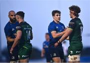 8 May 2021; Leinster players, Garry Ringrose, right, and Scott Fardy shake hands with Connacht players Peter Sullivan, left, and Cian Prendergast following the Guinness PRO14 Rainbow Cup match between Connacht and Leinster at The Sportsground in Galway.  Photo by David Fitzgerald/Sportsfile