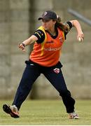 9 May 2021; Leah Paul of Scorchers during the third match of the Arachas Super 50 Cup between Scorchers and Typhoons at Rush Cricket Club in Rush, Dublin. Photo by Harry Murphy/Sportsfile