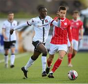 7 May 2021; Val Adedokun of Dundalk in action against Johnny Kenny of Sligo Rovers during the SSE Airtricity League Premier Division match between Dundalk and Sligo Rovers at Oriel Park in Dundalk, Louth. Photo by Stephen McCarthy/Sportsfile