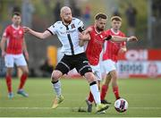 7 May 2021; Greg Bolger of Sligo Rovers in action against Chris Shields of Dundalk during the SSE Airtricity League Premier Division match between Dundalk and Sligo Rovers at Oriel Park in Dundalk, Louth. Photo by Stephen McCarthy/Sportsfile