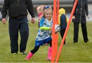 9 May 2021; Michaela Marlow during Longford Minis rugby training at Longford RFC in Longford. Photo by Ramsey Cardy/Sportsfile