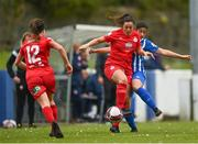 9 May 2021; Noelle Murray of Shelbourne in action against Shannon Parbat of Treaty United during the SSE Airtricity Women's National League match between Treaty United and Shelbourne at Jackman Park in Limerick. Photo by Eóin Noonan/Sportsfile