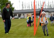 9 May 2021; Action from Longford Minis rugby training at Longford RFC in Longford. Photo by Ramsey Cardy/Sportsfile