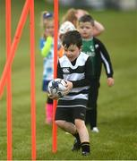 9 May 2021; Darragh Quinn-Kelly during Longford Minis rugby training at Longford RFC in Longford. Photo by Ramsey Cardy/Sportsfile