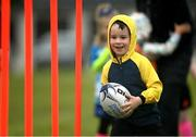 9 May 2021; Oran Healy during Longford Minis rugby training at Longford RFC in Longford. Photo by Ramsey Cardy/Sportsfile