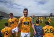 9 May 2021; Neil McManus of Antrim celebrates following the Allianz Hurling League Division 1 Group B Round 1 match between Antrim and Clare at Corrigan Park in Belfast, Antrim. Photo by David Fitzgerald/Sportsfile