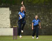 9 May 2021; Orla Prendergast of Typhoons bowls during the third match of the Arachas Super 50 Cup between Scorchers and Typhoons at Rush Cricket Club in Rush, Dublin. Photo by Harry Murphy/Sportsfile
