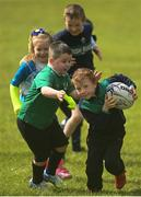 9 May 2021; Michael Ledwith during Longford Minis rugby training at Longford RFC in Longford. Photo by Ramsey Cardy/Sportsfile