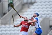 9 May 2021; Patrick Horgan of Cork and Conor Prunty of Waterford await the dropping ball during the Allianz Hurling League Division 1 Group A Round 1 match between Cork and Waterford at Páirc Ui Chaoimh in Cork. Photo by Piaras Ó Mídheach/Sportsfile