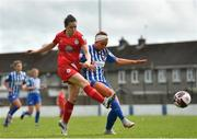 9 May 2021; Emily Whelan of Shelbourne in action against Alannah Mitchell of Treaty United during the SSE Airtricity Women's National League match between Treaty United and Shelbourne at Jackman Park in Limerick. Photo by Eóin Noonan/Sportsfile