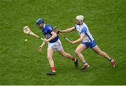9 May 2021; Cork goalkeeper Patrick Collins in action against Jack Fagan of Waterford during the Allianz Hurling League Division 1 Group A Round 1 match between Cork and Waterford at Páirc Ui Chaoimh in Cork. Photo by Stephen McCarthy/Sportsfile