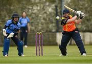 9 May 2021; Jenny Sparrow of Scorchers hits a four during the third match of the Arachas Super 50 Cup between Scorchers and Typhoons at Rush Cricket Club in Rush, Dublin. Photo by Harry Murphy/Sportsfile