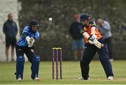 9 May 2021; Jenny Sparrow of Scorchers bats during the third match of the Arachas Super 50 Cup between Scorchers and Typhoons at Rush Cricket Club in Rush, Dublin. Photo by Harry Murphy/Sportsfile