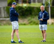 10 May 2021; Head coach Leo Cullen, left, and senior coach Stuart Lancaster during Leinster Rugby squad training at UCD in Dublin. Photo by Ramsey Cardy/Sportsfile
