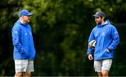 10 May 2021; Backs coach Felipe Contepomi, left, and Elite Player Development Officer Kieran Hallett during Leinster Rugby squad training at UCD in Dublin. Photo by Ramsey Cardy/Sportsfile