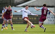 3 May 2021; Jack Moylan of Bohemians in action against Jake Hyland of Drogheda United during the SSE Airtricity League Premier Division match between Drogheda United and Bohemians at Head in the Game Park in Drogheda, Louth. Photo by Sam Barnes/Sportsfile