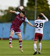 3 May 2021; James Clarke of Drogheda United in action against Dawson Devoy of Bohemians during the SSE Airtricity League Premier Division match between Drogheda United and Bohemians at Head in the Game Park in Drogheda, Louth. Photo by Sam Barnes/Sportsfile