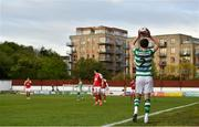 8 May 2021; Sean Gannon of Shamrock Rovers prepares to take a throw in during the SSE Airtricity League Premier Division match between St Patrick's Athletic and Shamrock Rovers at Richmond Park in Dublin. Photo by Eóin Noonan/Sportsfile