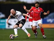 7 May 2021; Chris Shields of Dundalk and Greg Bolger of Sligo Rovers during the SSE Airtricity League Premier Division match between Dundalk and Sligo Rovers at Oriel Park in Dundalk, Louth. Photo by Ben McShane/Sportsfile