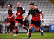 8 May 2021; Chris Lyons of Drogheda United after scoring his side's first goal during the SSE Airtricity League Premier Division match between Waterford and Drogheda United at RSC in Waterford. Photo by Ben McShane/Sportsfile