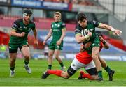 14 May 2021; Alex Wootton of Connacht is tackled by CJ Stander of Munster during the Guinness PRO14 Rainbow Cup match between Munster and Connacht at Thomond Park in Limerick. Photo by Brendan Moran/Sportsfile