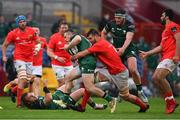 14 May 2021; Sean O'Brien of Connacht is tackled by Jean Kleyn of Munster during the Guinness PRO14 Rainbow Cup match between Munster and Connacht at Thomond Park in Limerick. Photo by Brendan Moran/Sportsfile