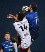 14 May 2021; Robbie Henshaw of Leinster in action against Robert Baloucoune of Ulster during the Guinness PRO14 Rainbow Cup match between Leinster and Ulster at the RDS Arena in Dublin. Photo by Ramsey Cardy/Sportsfile