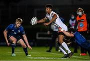 14 May 2021; Robert Baloucoune of Ulster is tackled by Robbie Henshaw of Leinster during the Guinness PRO14 Rainbow Cup match between Leinster and Ulster at the RDS Arena in Dublin. Photo by Ramsey Cardy/Sportsfile