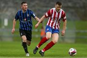 14 May 2021; Sean Guerins of Treaty United in action against James Doona of Athlone Town during the SSE Airtricity League First Division match between Treaty United and Athlone Town at Markets Field in Limerick. Photo by Michael P Ryan/Sportsfile