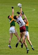 15 May 2021; Matthew Tierney of Galway in action against Jason Foley and Paul Murphy of Kerry during the Allianz Football League Division 1 South Round 1 match between Kerry and Galway at Austin Stack Park in Tralee, Kerry. Photo by Brendan Moran/Sportsfile