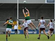 15 May 2021; Diarmuid O'Connor of Kerry goes up for a high ball ahead of Damien Comer of Galway during the Allianz Football League Division 1 South Round 1 match between Kerry and Galway at Austin Stack Park in Tralee, Kerry. Photo by Brendan Moran/Sportsfile
