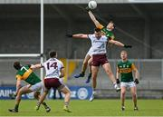 15 May 2021; Diarmuid O'Connor of Kerry contests a kickout with Paul Conroy of Galway during the Allianz Football League Division 1 South Round 1 match between Kerry and Galway at Austin Stack Park in Tralee, Kerry. Photo by Brendan Moran/Sportsfile