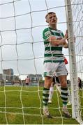 15 May 2021; Liam Scales of Shamrock Rovers after failing to convert a chance on goal during the SSE Airtricity League Premier Division match between Shamrock Rovers and Derry City at Tallaght Stadium in Dublin. Photo by Seb Daly/Sportsfile