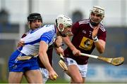 16 May 2021; Jack Fagan of Waterford in action against Aonghus Clarke, left, and Shane Clavin of Westmeath during the Allianz Hurling League Division 1 Group A Round 2 match between Waterford and Westmeath at Walsh Park in Waterford. Photo by Seb Daly/Sportsfile