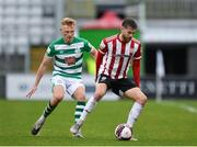 15 May 2021; Will Patching of Derry City in action against Liam Scales of Shamrock Rovers during the SSE Airtricity League Premier Division match between Shamrock Rovers and Derry City at Tallaght Stadium in Dublin. Photo by Seb Daly/Sportsfile