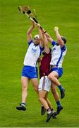 16 May 2021; Aonghus Clarke of Westmeath in action against Jack Fagan, left, and Patrick Curran of Waterford during the Allianz Hurling League Division 1 Group A Round 2 match between Waterford and Westmeath at Walsh Park in Waterford. Photo by Seb Daly/Sportsfile