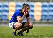 16 May 2021; Nicky Devereux of Wicklow reacts following his side's defeat in the Allianz Football League Division 3 South Round 1 match between Wicklow and Offaly at the County Grounds in Aughrim, Wicklow. Photo by Harry Murphy/Sportsfile