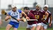 16 May 2021; Jack Fagan of Waterford in action against Aonghus Clarke of Westmeath during the Allianz Hurling League Division 1 Group A Round 2 match between Waterford and Westmeath at Walsh Park in Waterford. Photo by Seb Daly/Sportsfile