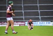16 May 2021; Conor Whelan of Galway awaits medical attention for injury during the Allianz Hurling League Division 1 Group A Round 2 match between Galway and Limerick at Pearse Stadium in Galway. Photo by Piaras Ó Mídheach/Sportsfile
