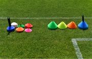 8 May 2021; Cones on the sideline before the Allianz Hurling League Division 1 Group B Round 1 match between Dublin and Kilkenny at Parnell Park in Dublin. Photo by Piaras Ó Mídheach/Sportsfile