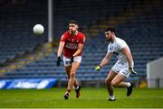 15 May 2021; Paul Walsh of Cork in action against Kevin Flynn of Kildare during the Allianz Football League Division 2 South Round 1 match between Cork and Kildare at Semple Stadium in Thurles, Tipperary. Photo by Ray McManus/Sportsfile