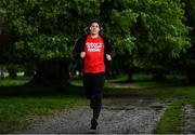 20 May 2021; Brian Maher proves he Can't Stop Now by running for 24 hours in aid of Special Olympics Ireland starting at the Hole In The Wall Pub in Dublin. Photo by Harry Murphy/Sportsfile